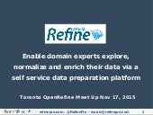 Toronto OpenRefine MeetUp Nov 2015