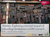 #kbdata: Exploring potential impact of technology limitations on DH research