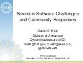 Scientific Software Challenges and Community Responses