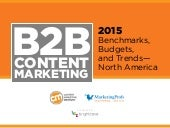 2015 B2B Content Marketing Benchmarks, Budgets and Trends - North America by Content Marketing Institute and MarketingProfs