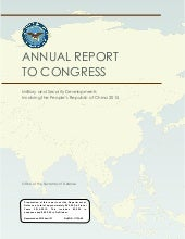 DOD 2015 China Military Power Report