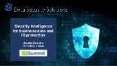 Data Security Solutions - Cyber Security & Security Intelligence - @ Lithuania CIO Forum 2015 November
