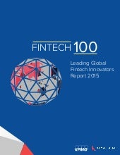 The 100 Leading Global Fintech Innovators 2015