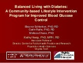 Balanced Living with Diabetes