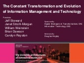 2015 MCN The Constant Transformation and Evolution of Information Management and Technology