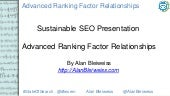 Advanced SEO Ranking Relationships
