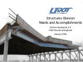 UDOT Structures Division Needs and Accomplishments 2015
