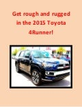 2015 Toyota 4Runner back on the scene