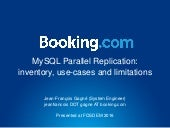 MySQL Parallel Replication: inventory, use-cases and limitations