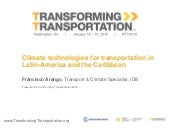 Climate technologies for transportation in Latin-America and the Caribbean