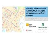 Increasing the efficiency and sustainability by institutional cooperation: The example of the Addresses Database of Catalonia