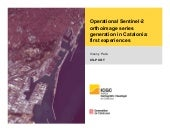Operational Sentinel - 2 orthoimage series generation in Catalonia: first experiences