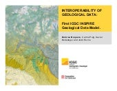Interoperability of geological data: First ICGC INSPIRE Geological Data Model