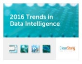 2016 Trends in Data Intelligence