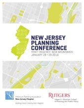 2016 New Jersey Planning Conference Program