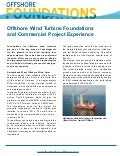 Commercial project experience at the Amrumbank West, Sandbank, Eneco Luchterduinen and WindFloat Atlantic offshore wind farms