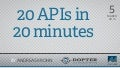 20 APIs in 20 Minutes - apps4norge
