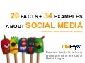 20 facts and 34 examples about social media