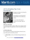 Checklist: 20 proofreading tips from Hemingway