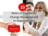 20 Rules of Change Management in Organizations by Catherine Adenle