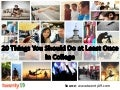 20 Things To Do At Least Once In College