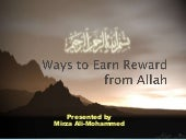 20 Ways To Earn Reward From Allah