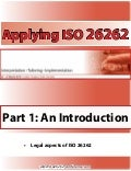 Applying ISO 26262 - Legal Aspects of ISO 26262
