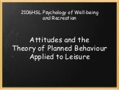 Attitudes and the Theory of Planned...