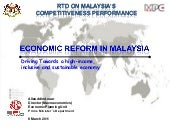 Economic Reform in Malaysia