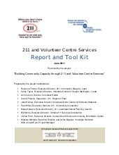 211 and Volunteer Centre Services R...