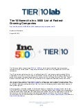 Tier10 Named to Inc. 5000 List of Fastest-Growing Companies