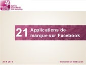 21 applications de marque sur facebook