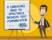 21 Awesome Ways to Effectively Promote Text Communication