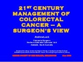 21 Century Management Of Colorectal...