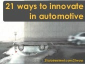 21 ways for innovation in automotive