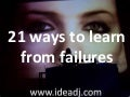 21 ways to learn from failures