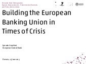 Building the European Banking Unio...
