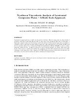Nonlinear Viscoelastic Analysis of ...