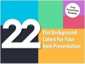 22 Flat Background Colors for your Presentation [PPT TEMPLATE]