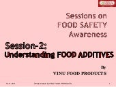 2 2 Understanding Food Additives
