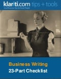 23-part checklist for better business writing