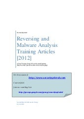 Reversing and Malware Analysis