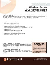 Windows Server 2008 Administration