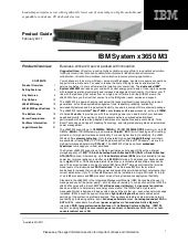 IBM System x3650 M3 Product Guide