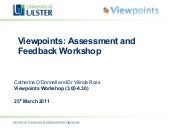 Viewpoints Assessment and Feedback ...