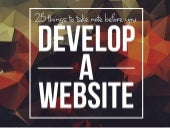 25 Things to Take Note Before You Develop A Website
