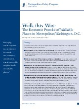 Walk this Way:  The Economic Promis...