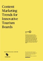 Report 26: Content Marketing Trends for Innovative Tourism Boards Excerpt