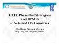 hpmp status and trends in selected article 5 and ceit countreis