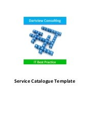 ITIL Service Catalogue Template
